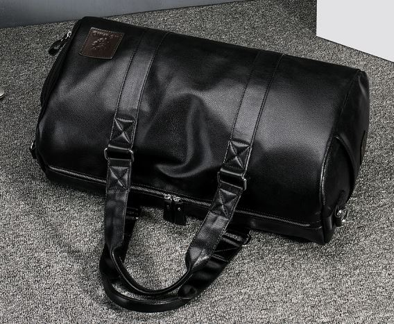 Men's Leather Bag Large Capacity Travel Bag Travel Bag Waterproof Multifunctional
