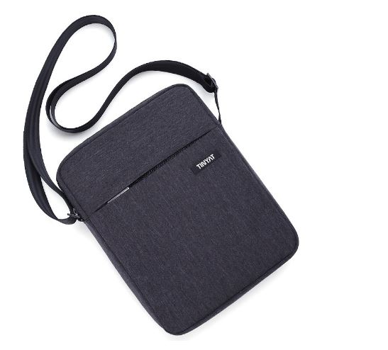 Bag Hidden Zipper Bag Men's Shoulder Bags Shockproof for 9.7 'Men's Cushion Messenger Bag