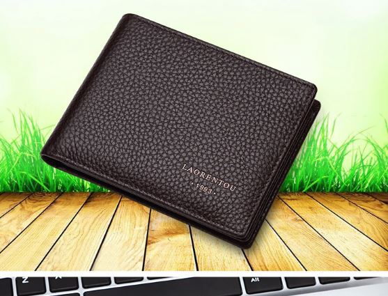 Men's Wallets Genuine Leather Wallet Card Holder Purse Fine Leather Wallet Vintage Casual Wallet for Men