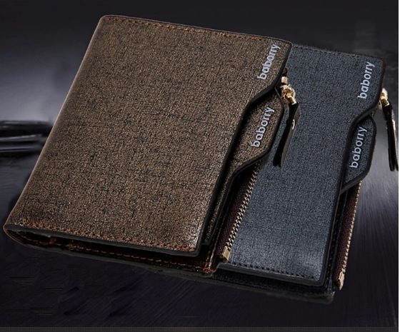 Men Wallet With Coin Pocket Wallet ID Card Holder Clutch Zipper Wallet Men's Walle