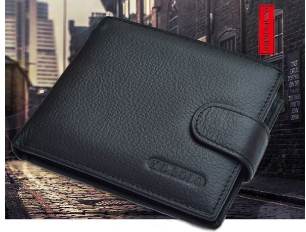 Leather Wallet Cow Leather Man Wallets With Coin Pocket Man Money Bag Leather Wallet Leather Wallets for Men