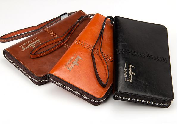 Wallet Men's Credit Card Holder Large Box Long Clutch PU Leather Money Bag