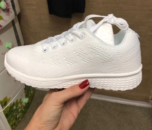 Women's Sneakers Lace-Up Sport Shoes Beginner Rubber Fashion Knit Round Flat Cross Straps Tennis Running Shoes Casual Shoes