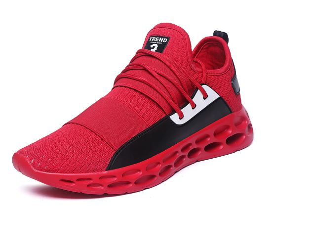 Shoes For Men Breathable Lightweight Sports Shoes Black Red Men's Gymnasium Shoes Sneakers Betis