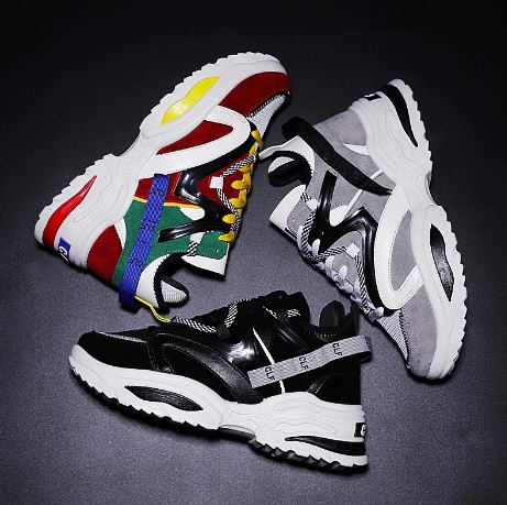 Men Running Shoes INS Height Raising Women's Sport Shoes Outdoor Women's Shoes Ulzza Harajuku Cushioning Shoes