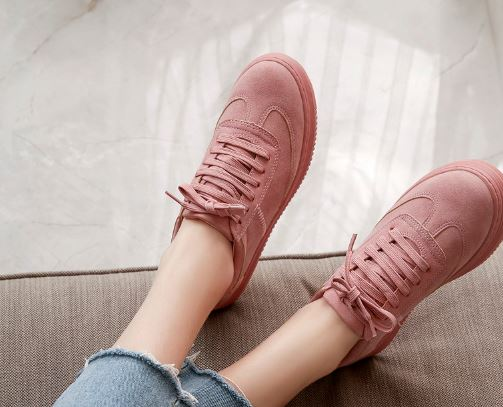Women's Fashion Shoes Pink Shoes for Women Lace Up Climbing Shoes White Platform Shoes White Shoes Shoes