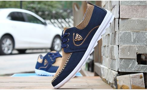 Casual Shoes Men Flats Loafers Lace Up Canvas Shoes For Men Flat No-Slip Driving Shoes Men Sneakers Footwear