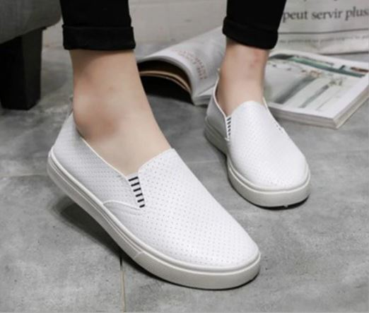 Summer Slip On Rasa Casual Sneakers Moccasins Soft Digging Solid Female Apartments Casual Shoes