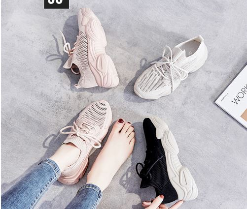 Women's Fashionable Summer Shoes Mesh Breathable Platform Sole Thick Shoes Women's Shoes Chunky Women's Shoes