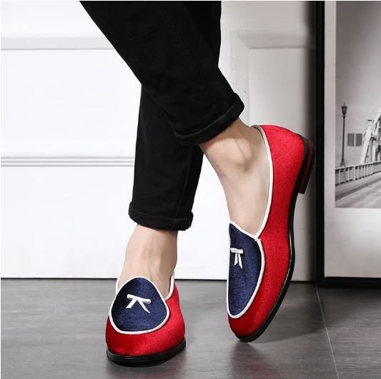 Men's Fashion Leather Shoes New Style Silk Velvet Shoes For Men Shoes