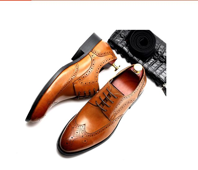 Mens formal leather shoes oxford shoes for men men's wedding dress