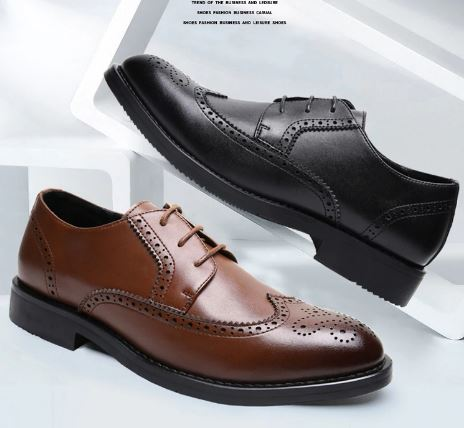 Men's shoes formal elegant Italian leather elegant classic men's luxury oxford shoes