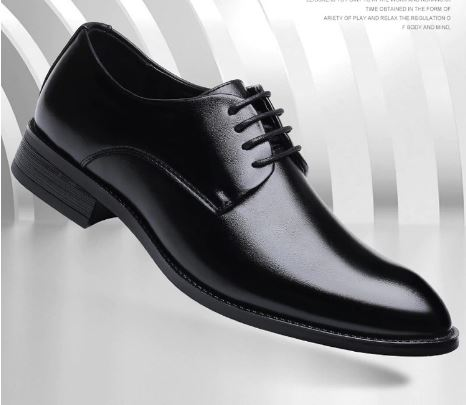 Men's black suit men's party shoes Italian leather shoes shoes man formal shoes