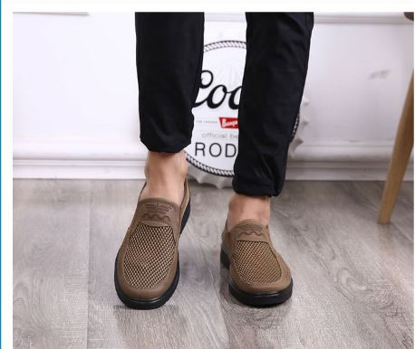 Casual Shoes Men's Summer Style Knitted Apartments For Men Creepers Loafer Casual High-End Shoes