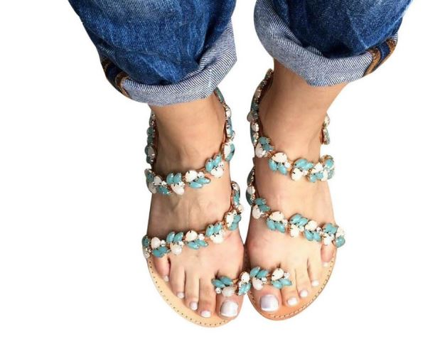 Women's Sandals Women's Summer Beach Shoes Flat Sandals Plus Size Women's Flip Flop Slippers Soft Bottom