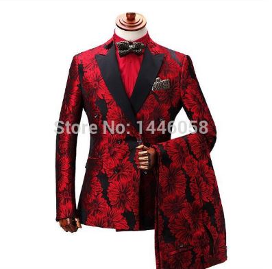Men's Suit Men's Suits Floral Suit Wedding Groom Suit