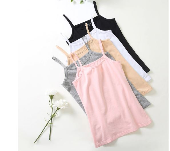 Women's Tank Tops Sleeveless Round Neck Loose Ladies T Shirt Vest Camisole Singlets Cotton Slim Fine Ladies Vest