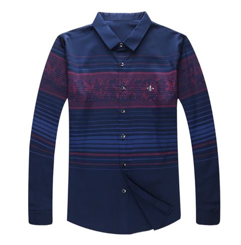 Casual Shirt Long Sleeve Shirt Slim Fit Soft Cotton Men's Clothing