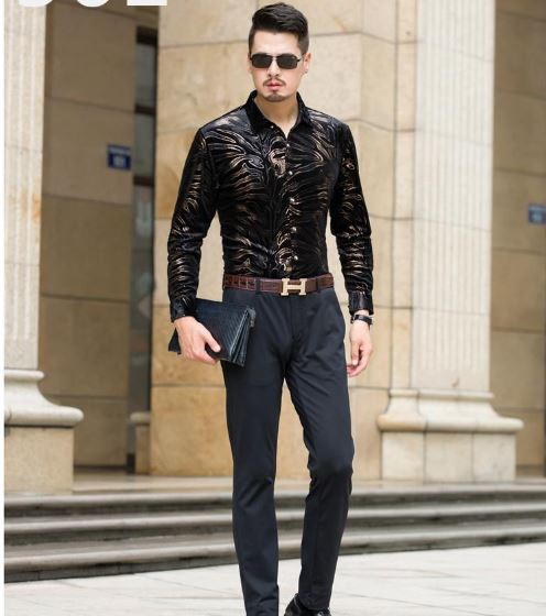 Men's Casual Single Breaste With High Quality Shirts Slim Fit Men's Shirt