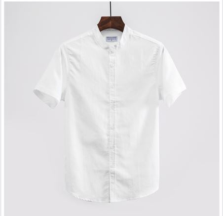 Fashion Summer Japan Cotton Flax Style Thin Solid Short Sleeve Shirt