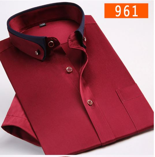 New arrival fashion men's business formal casual short-sleeved men's shirt super large plus