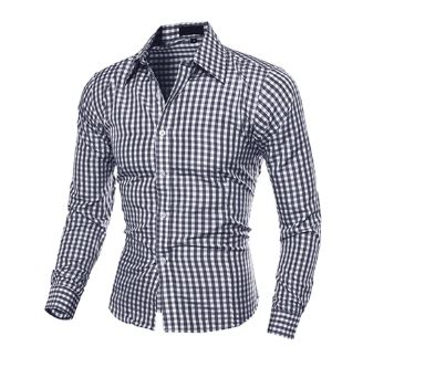 New Fashion Casual Men Button Lapel Down Long Sleeve Long-Sleeved Shirt