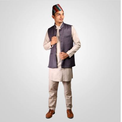 Typical Combo daura suruwal coat and topi