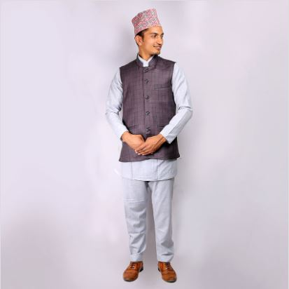 Typical Daura Suruwal st.coat and topi for men