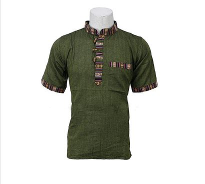 Green Half Sleeve Bhutani Kurta Shirt For Men