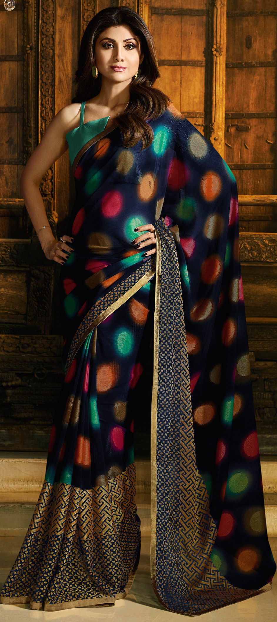 Georgette Bollywood Saree in Blue with Printed work