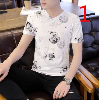 t-shirt men's tide summer fashion personality brand 2019 new Korean version of the self-cultivation tide