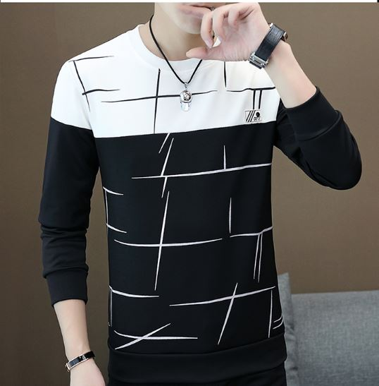 Men's Long Sleeve T-shirt, Teenagers' T-shirt, Sweater Printed Student Shirt, Fashion Men wear