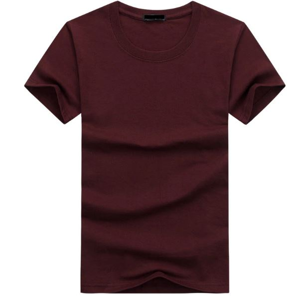 Fashion Mens T Shirts Casual Short Sleeve T-shirt Mens Solid Casual Cotton Tee Shirt Summer Clothing