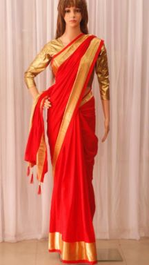 Attractive Red Saree For Women