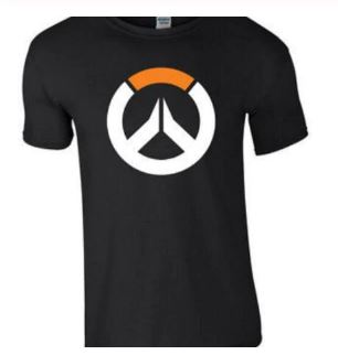 Free shipping OVERWATCH Logo Game Gaming Gamer Tshirt Tee Top Over-Short Sleeve T Shirts