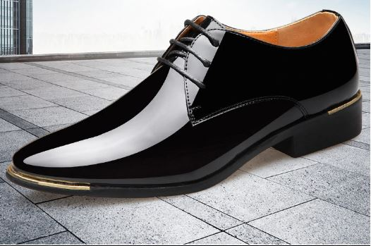 Male Quality Patent Leather Wedding Shoes White Shoes Size 38-48 Man Soft Black Leather Dress Shoes