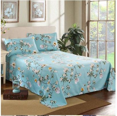 Home Decoration Bed Textile Bed Cover Flower Quilt Flat Sheet Bed Sheet Soft Warm Bed sheets