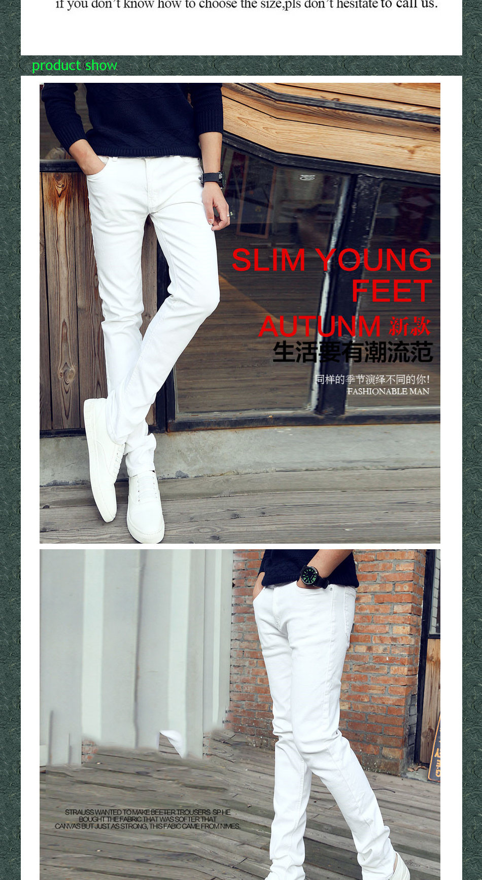 Summer Casual Slim Youth business white Stretch pants male teenagers Skinny jeans men pencil pants