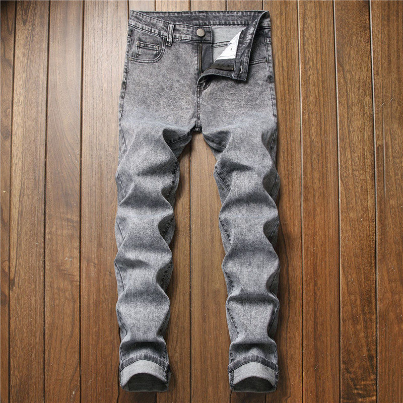 Pants Casual Straight Jeans Men's Jeans For Male Solid Color Plus Size 28-42 Slim fit Jen Joggers