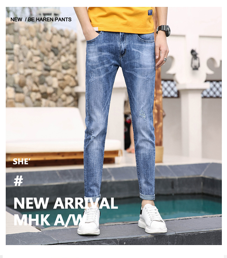 Men Jeans Homme Jens Men Korean Slim Stretch Denim