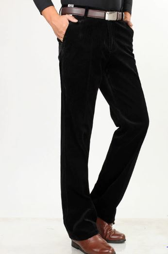 men's loose velvet pants middle-aged men father installed in the autumn and winter