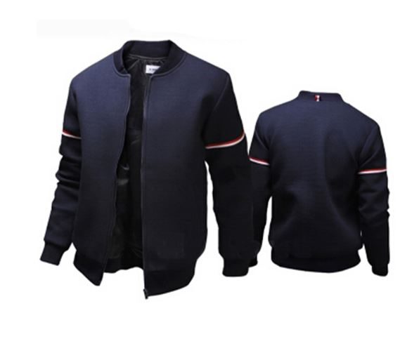 Jacket Men Decorative Ribbon White Casual Jacket Bomber Jacket Men Mens Jacket And Coat