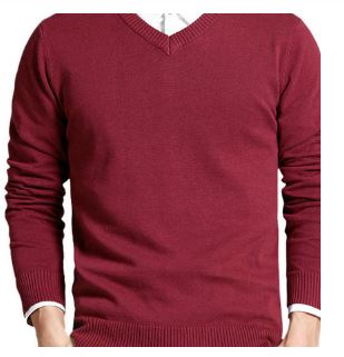 Long Sleeve Outwear Man Blouses V-neck Tops Loose Fit Solid Knitting Clothes 8 Colors