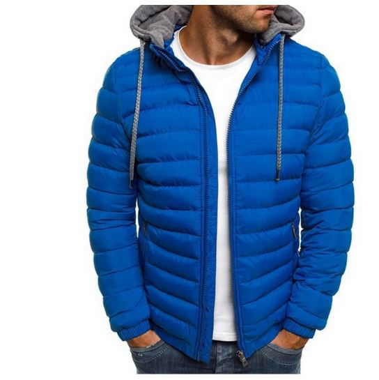 Jacket Men Hooded Coat Jacket Zipper Jackets Men Parka Warm Winter Coat For Men Streetwear