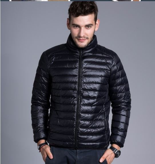 Jackets Casual solid thin breathable Mens Jacket Winter Outdoor Parka Coat Plus
