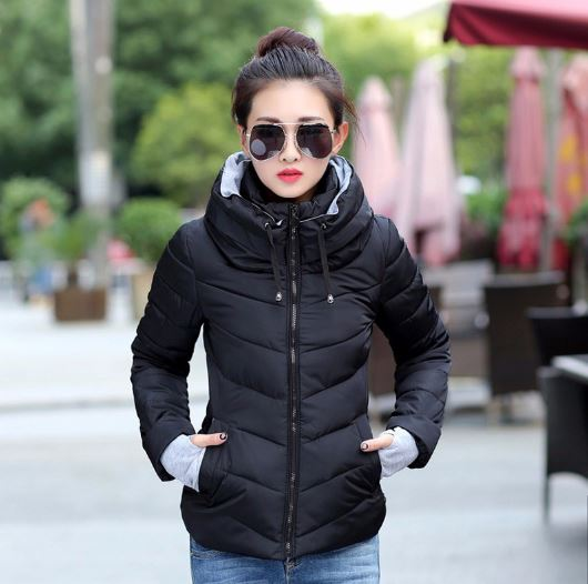 Women Hooded Winter Jacket Women's Short Cotton-padded Jacket