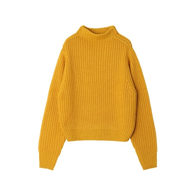 Highneck Loose Wool Sweater Casual Knitted Women's Coat Female Long Sleeve Tops Solid Short Wool Pullover Sweater