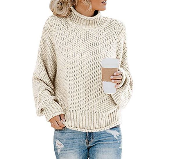 New Turtleneck Sweater Women Solid Casual Knitted Pullovers Fashion