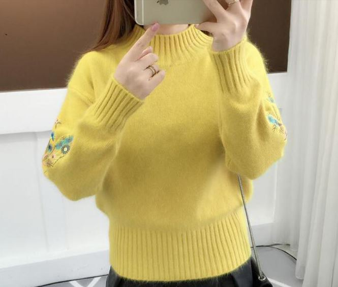 Sweater female long sleeve knitted sweater pullover female