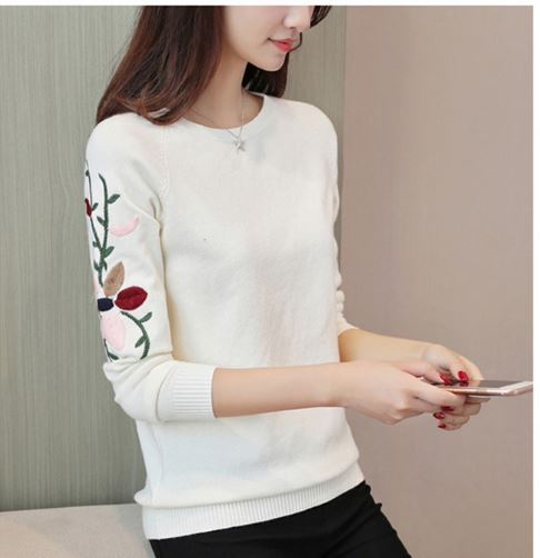 Sweater Pullovers Casual Warm Female Knitted Sweaters Lady Pullover